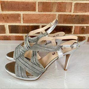 Unisa sequined heeled sandals